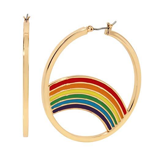 Pendientes de aro arcoíris