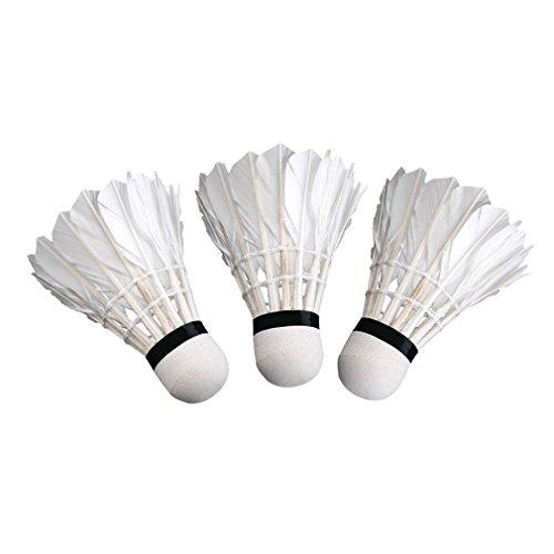 3pcs Pluma De Ganso Bádminton Durable Entrenar Badminton Bolas Del Deporte De Plástico Volantes De Entrenamiento Badminton Bolas Para Juego De Interior Al Aire Libre Para Niños Backyards Actividades