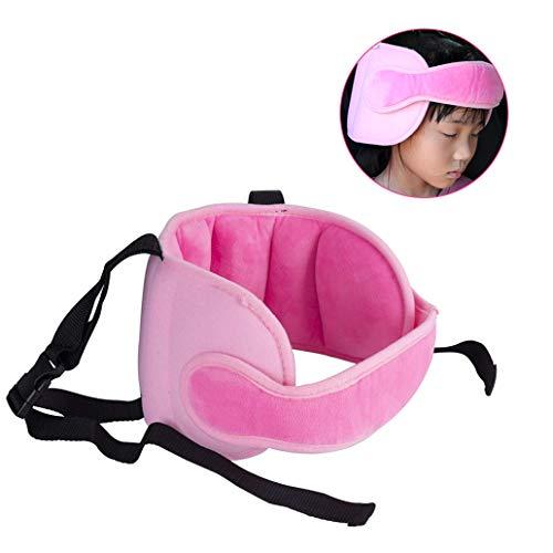 Silingsan Seggiolino auto Testa Dormire per Regolabile Supporto Cintura di Sicurezza Testa per Bambini Fascia Testa del Bambino - Rosa