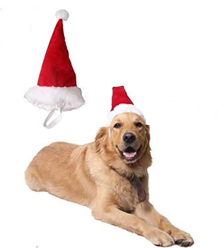 BT Bear® Mascota de Navidad Disfraz de Perro, Gato de Navidad, Gato de Papá Noel Sombrero para Gatos, Cachorro,...