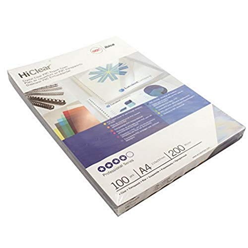 GBC HiClear Abdeckfolien (200 Mikrometer, A4, kristallklar) 100 Stück transparent