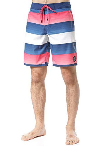O'NEILL Long Freak Art Boardshorts Bañador para Hombre, Color Azul y Rojo, 32