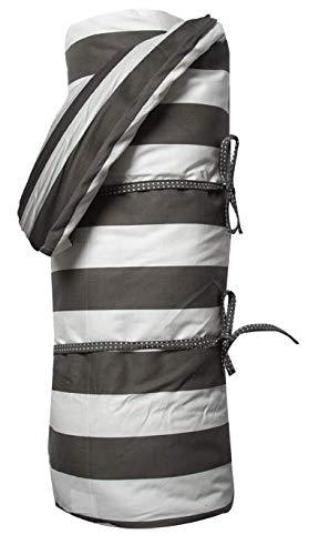 A.U MAISON Picknickdecke Giant Stripes 130x170cm schwarz weiß mit Streifen