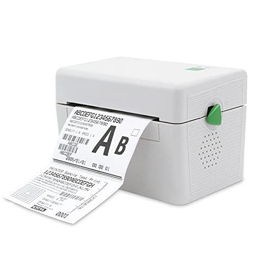 LVYUAN 4 x 6 Versand Etikettendrucker, 150mm/s ThermoEtikettendrucker, Thermodrucker für Versandetiketten, Barcode, Mailing, Für Amazon Shopify DHL Etsy Ebay Ups FedEx, kompatibel mit Mac Windows