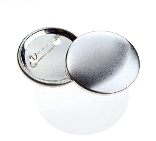 Buttonrohlinge 50mm (200 Stück) für Badgematic Buttonmaschine mit Sicherheitsnadel