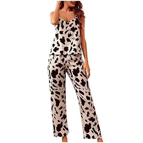 Nachtwäsche Damen Sexy Schwarz Satin Nachthemd Schlafanzug Damen Kurz Baumwolle Sexy Klamotten Nachthemd Damen Sexy Spitzen Pyjama Babydoll Oberteil Große Größen (Braun,S)