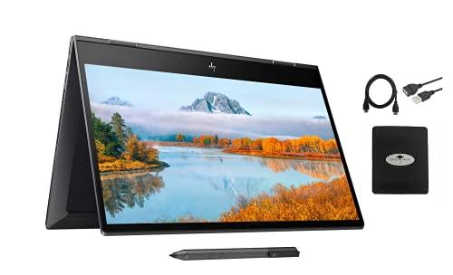 2021 HP Envy x360 2in1 15.6' FHD Touchscreen Flagship Laptop, AMD Ryzen 7 4700U 8-core(Beat i9-8950HK, up to 4.1GHz), 16GB RAM, 1TB PCIe SSD, Fingerprint, Backlit-KB, HDMI, w/Ghost Manta Accessories