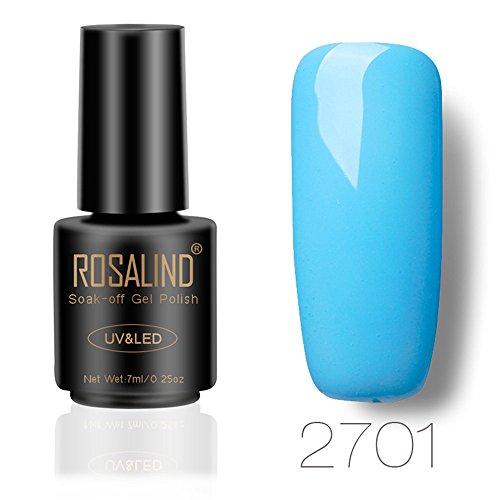 RISTHY Esmalte Semipermanente UV LED Uñas de Gel Pintauñas Pintura de Color Sólido Esmaltes de Lacado Secado con Salón de Belleza Secado Rápido Larga Duración para Manicura y Pedicura