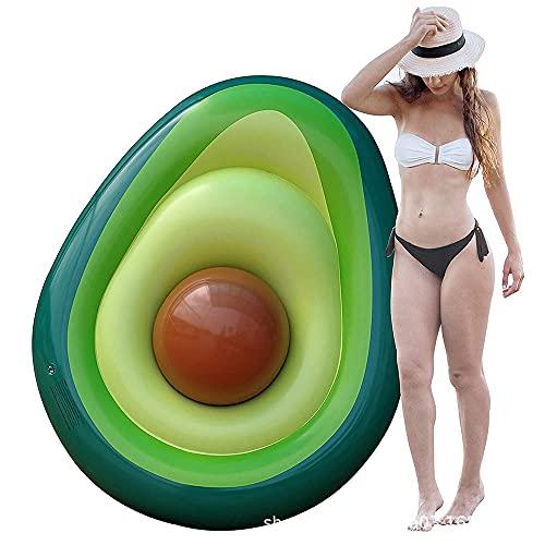 Haihui Flotador hinchable de aguacate con pelota, para piscina o playa, juguete para niños y adultos
