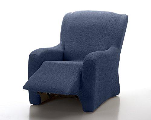 Textil-home Stretchhusse für Relaxsessel Komplett TEIDE, lastisch Bezug für Fernsehsessel Liege - 1 Sitze - 70 a 100Cm. Farbe Blau