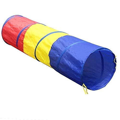 Sitrda Children Pop Up tricolor tunnel toy tent for Indoor Outdoor