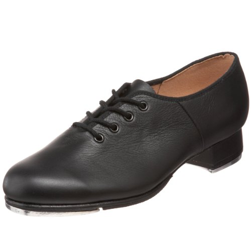 Bloch Dance Women's Jazz Full-Sole Leather Tap Shoe, Black, 8.5