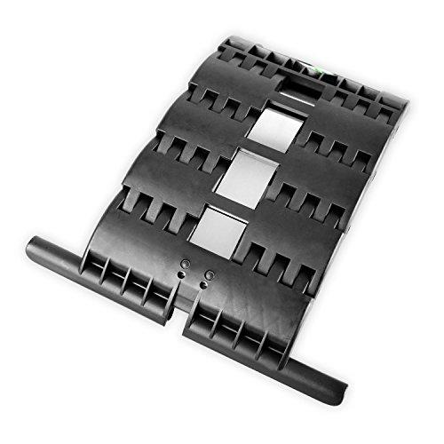 Hochschiebesicherung, Hochschiebeschutz zum Einclipsen und Anschrauben für Achtkantstahlwellen verwendbar für Motor und Kurbelantriebe (Hochschiebesicherung 3 Gliedrig für Rolladen Maxi Profil 50 - 56 mm Deckbreite)