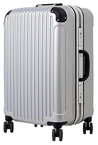 [luckypanda(ラッキーパンダ)] TY051 スーツケース 機内持込 キャリーバッグ 機内持ち込み 小型 フレーム 1年修理保証対応 TSAロック 鍵付 ハード キャリーバック 旅行鞄 キャリーケース Sサイズ シルバー