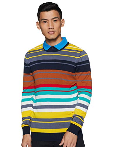 United Colors of Benetton Men's Cotton Sweater (19A1CTNK1030I_902_EL_Navy_XXL