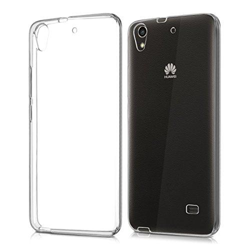 REY Funda Carcasa Gel Transparente para Huawei G620S, Ultra Fina 0,33mm, Silicona TPU de Alta Resistencia y Flexibilidad