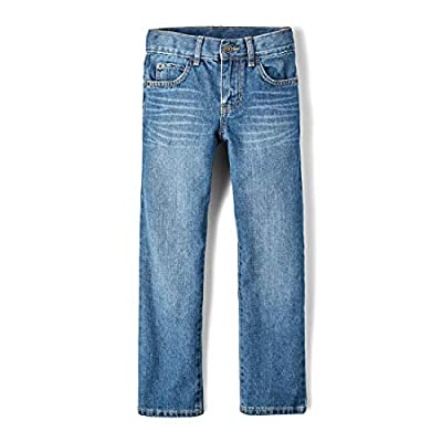 The Children's Place Big Boys' Straight Leg Jeans, Carbon,6