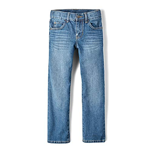 The Children's Place Big Boys' Straight Leg Jeans, Carbon,10