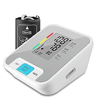 Blood Pressure Monitor, Kunodi Accurate Automatic Digital Upper Arm Blood Pressure Machine with 2 x 120 Memory, Voice Broadcast,Soft 22-40cm Cuff, Irregular Heartbeat Monitoring for Home & Travel
