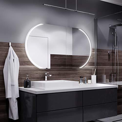 Alasta Spiegel | Kair Badspiegel 80x200cm mit LED Beleuchtung | LED Farbe Weiß Warm | Wandspiegel mit LED Beleuchtung