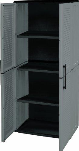 Art Plast E71/TP Armadio alto in plastica, economico, grigio/nero