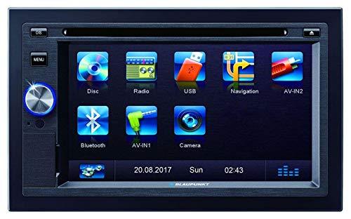 BLAUPUNKT Las Vegas 570 BT 2-DIN UKW/MP3/CD/DVD-Tuner 15,74cm 6,2Zoll Display Front USB Navigation WEU inkl. Fernbedienung