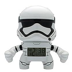 BulbBotz Star Wars Stormtrooper Kids Light up Alarm Clock   White/Black   Plastic   3.5 inches Tall   LCD Display   boy Girl   Official