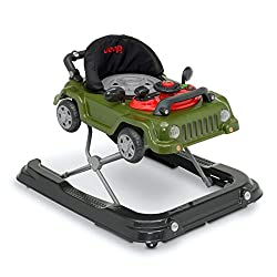 powerful Jeep Classic Wrangler 3-in-1 Glow With Me Walker, Anniversary Green