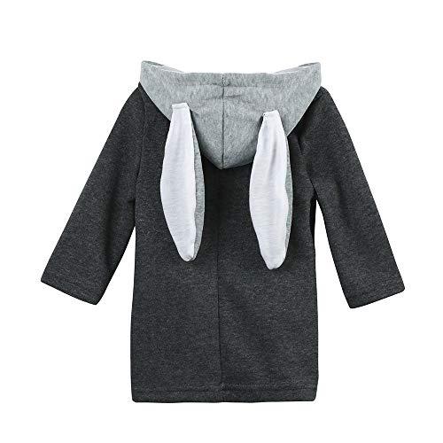 KEERADS Pyjama Ensemble de Pyjama Dors Bien Enfant Bébé Combinaison Hiver Forme Animal Déguisement Stitch Bleu Oreille de Lapin