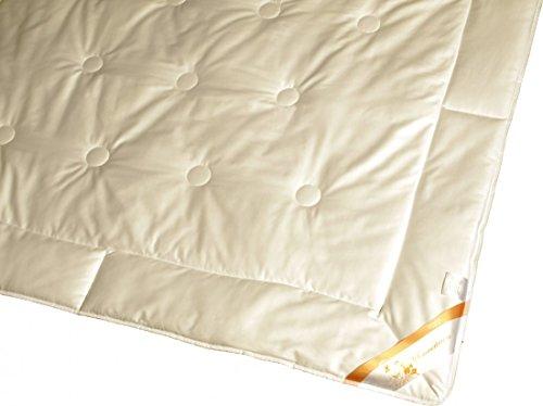 Garanta Steppdecke 135 x 200/800 g Leichte Bettdecke für die Übergangszeit Steppbett-Decke - Füllung 100% Seide