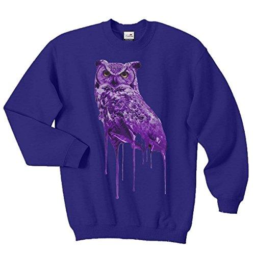 Ovoxo Sweatshirt Jumper Eule Drake Lil Wayne YMCMB Swaetshirt Fresh Dope Herren Damen Gr. S / 88,90-93,98 cm, königsblau