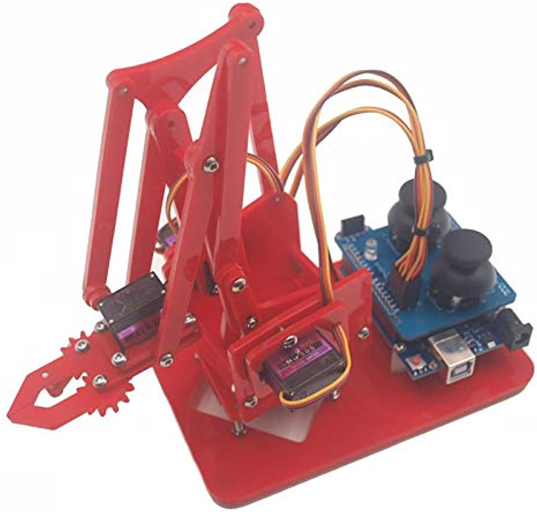 Generic Mearm DIY 4DOF for Arduinos Robot Arm 4 redating Kit with Joystick Button Controller 4pcs Servo Red