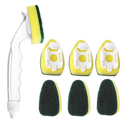 Jooheli Plumero atrapapolvo Extensible,Ajustable Lavable Plumero de Microfibra con Poste telescópico Largo de 100 Pulgadas, para Limpiar telarañas de Polvo en Ventiladores/Luces/persianas