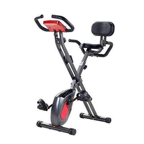 DJDLLZY - Bicicleta de ejercicio para bicicleta vertical, bicicleta de fibra, plegable, control magnéticamente