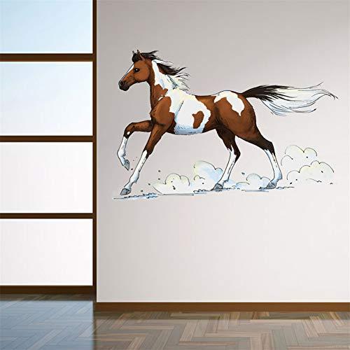 TYOLOMZ Muursticker Running Horse Stickers Muursticker Doe-het-zelf verwijderbare Vinyl Decor Art Mural voor Home Decor