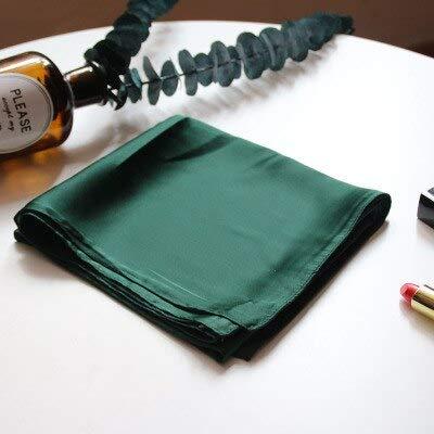 YDMZMS 70 cm sjaal vierkant solide haarband zijden sjaal vrouwelijk wilde vlieghulp professionele kleine decoratieve sjaal groen