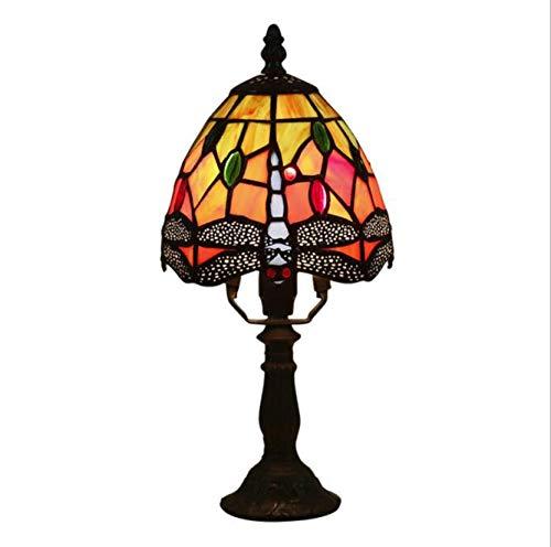 WLWLEO 6 inch oogschaduw Tiffany mini tafellamp retro geStained glas church warm tafellamp voor kinderen in de woonkamer slaapkamer universiteit E14 interface