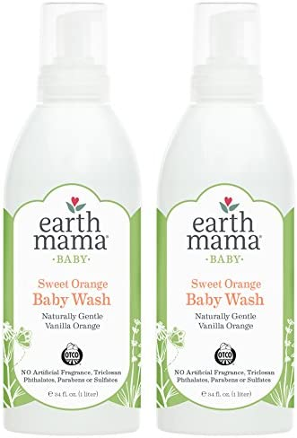 Earth Mama Sweet Orange Foaming Hand Soap Refill All Purpose Castile Body Wash 34 Fluid Ounce product image