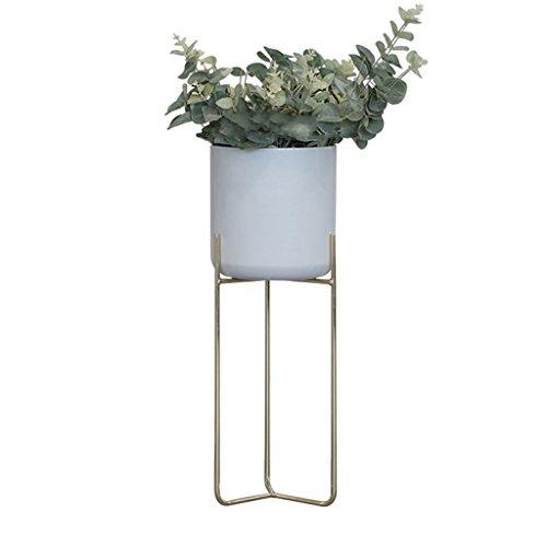 MMM@ Nordique en fer forgé fleur stand intérieur balcon extérieur jardin au sol simple fleur stand (Couleur : #1)