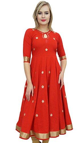 Bimba Designer Red Anarkali Kurta I…