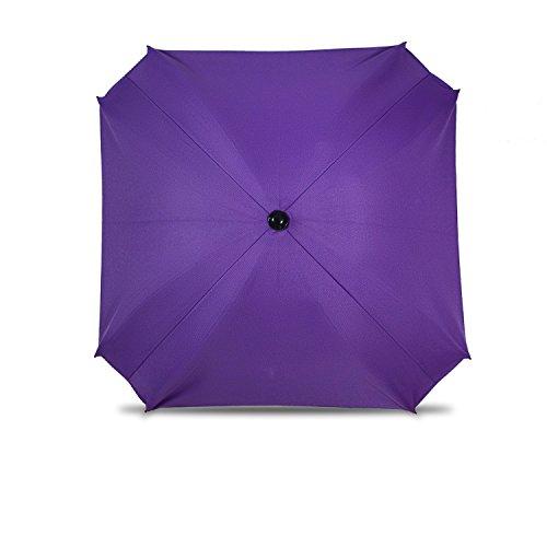 Sombrilla para cochecito de bebé, con brazo de fijación flexible, protección UV, diámetro 68 cm, color morado