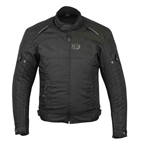 Freeday Rider-2 Herren-Motorradjacke für den Winter, Schwarz 8XL Schwarz