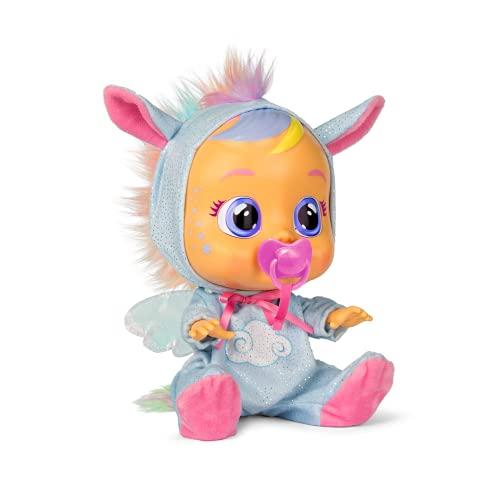 CRY BABIES Fantasy Jenna - Poupée interactive qui pleure de vraies larmes avec son pyjama de Pégase bleu