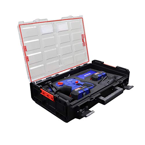 Martillo Perforador 20V BRUSHLESS (PACK) Pecol PowerTools, sin escobillas, juego de 16 taladros, bateria 20V 4Ah, cargador 20V y maleta