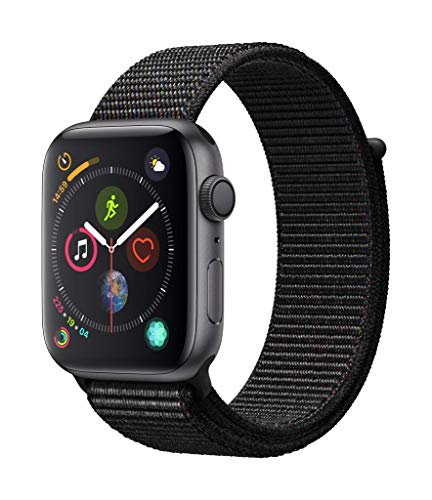 Apple Watch Series 4 (GPS, 44mm) Cassa in Alluminio Grigio Siderale e Sport Loop Nero