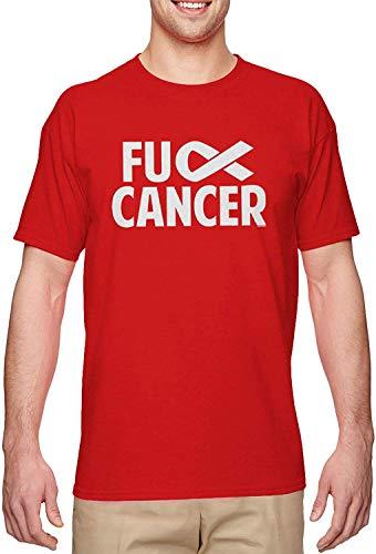 BLINGG Fuck Cancer Raise Awareness Fight Men's T-Shirt,Red,Medium