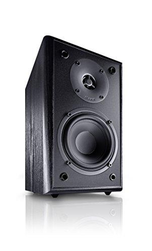 Magnat Monitor Supreme 102 I 1 Paar Regallautsprecher mit hoher Klangqualität I Passiv-Lautsprecherbox für anspruchsvollen HiFi-Sound, Schwarz