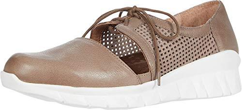 NAOT Women's Lace-up Ophelia Shoe Soft Soft Stone Lthr/Stone Nubuck Combo 11 M US