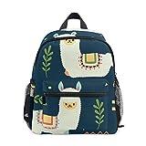Durable mochila para niños pequeños con diseño de llama, alpaca, para preescolar, guardería, niños pequeños