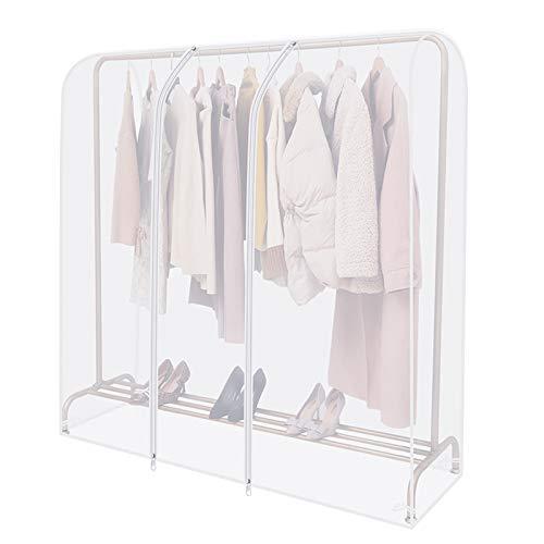 Anjing Housse transparente pour tringle à vêtements avec fermeture éclair solide et poche à documents housse penderie ,Portant Non Inclus